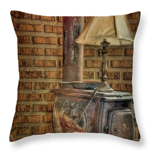 Oven Throw Pillow featuring the photograph Good Old Days by Evelina Kremsdorf