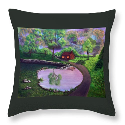 Light Throw Pillow featuring the painting Good Spring Morning by Dawn Blair