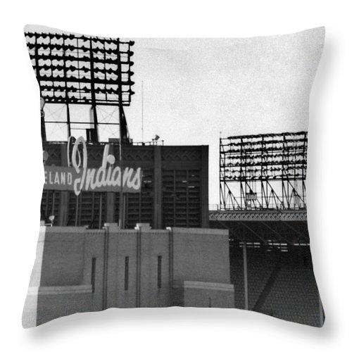 Cleveland Throw Pillow featuring the photograph Good Times Bad Times by Kenneth Krolikowski