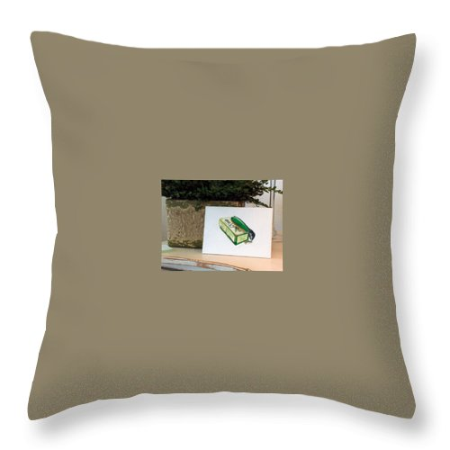 Fishing Throw Pillow featuring the painting Good Times by Racquel Morgan