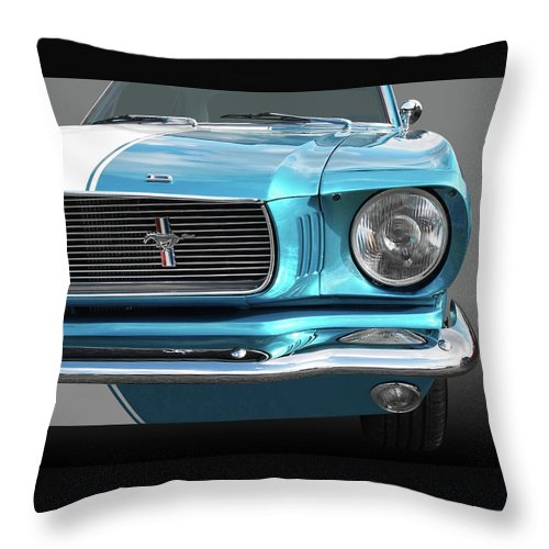 Ford Mustang Throw Pillow featuring the photograph Good Vibrations by Gill Billington