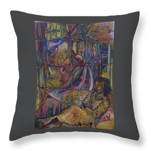 Mother Throw Pillow featuring the painting Goodbye Sweet Dreams by Peggy Blood