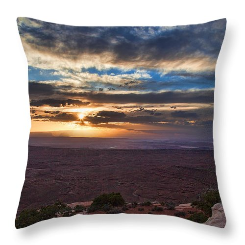 Utah Throw Pillow featuring the photograph The Long Wave Goodbye by Jim Garrison
