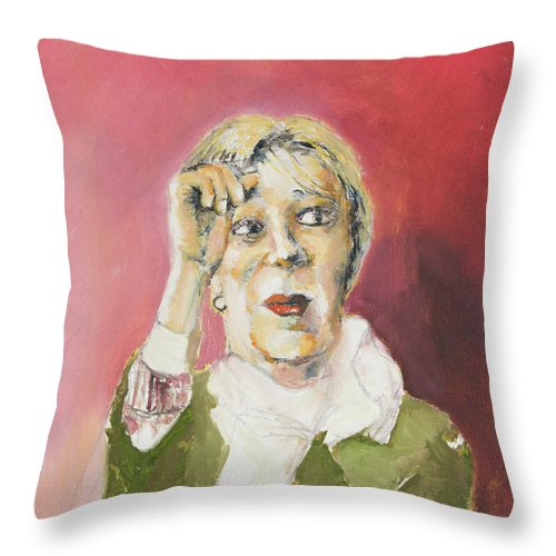 Woman Throw Pillow featuring the painting Goodness by Craig Newland