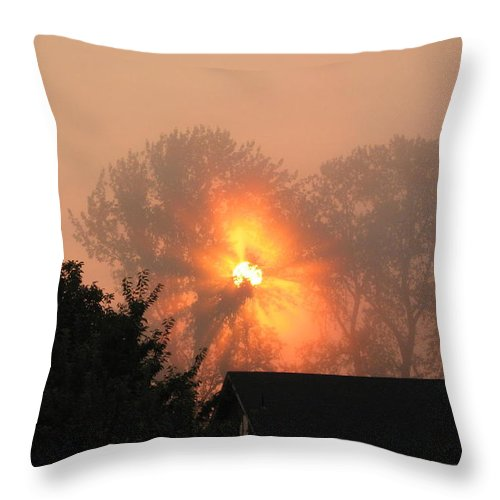 Landscapes Throw Pillow featuring the photograph Goodnight Kiss by Shari Chavira