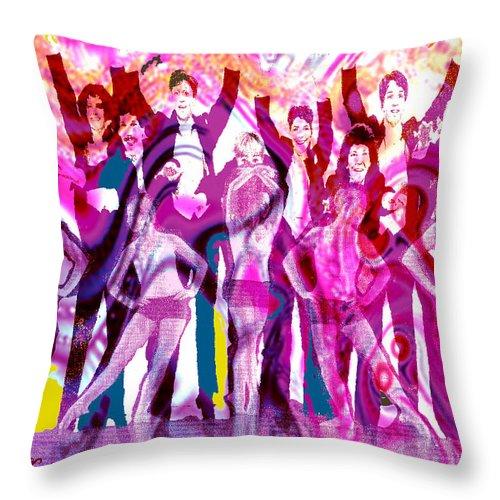 Joy Throw Pillow featuring the digital art Got to Dance by Seth Weaver