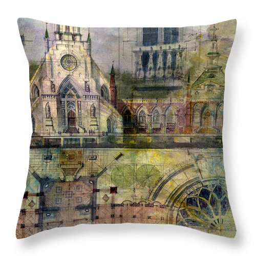 Gothic Throw Pillow featuring the painting Gothic by Andrew King