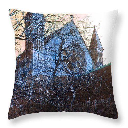 Scotland Throw Pillow featuring the photograph Gothic Church by Heather Lennox