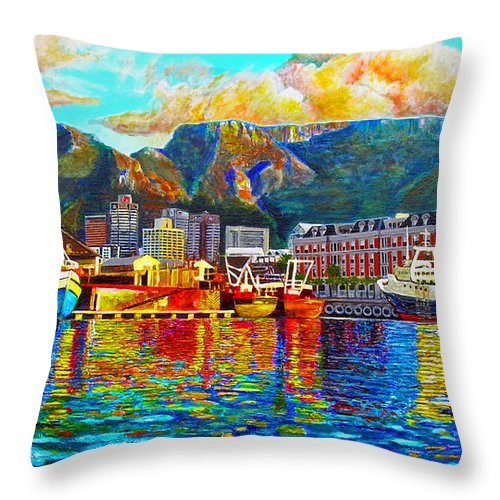 Montain Throw Pillow featuring the painting Grace At The Table by Michael Durst