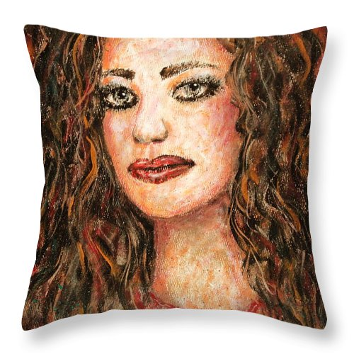 Grace Throw Pillow featuring the painting Grace by Natalie Holland