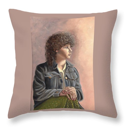 Throw Pillow featuring the painting Grace by Toni Berry