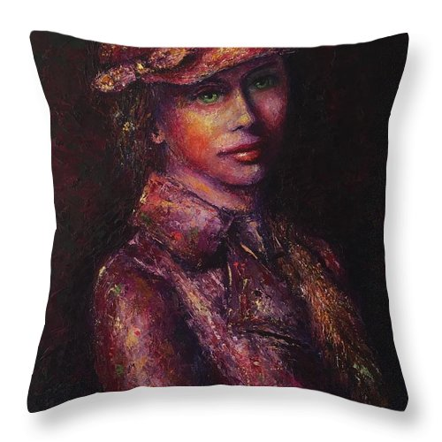 Grace Cassidy Throw Pillow featuring the painting Grace Under Pressure by Shannon Grissom