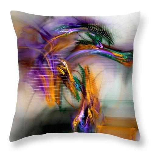 Graffiti Throw Pillow featuring the digital art Graffiti - Fractal Art by NirvanaBlues