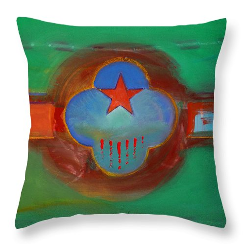 Star Throw Pillow featuring the painting Grand Canal by Charles Stuart