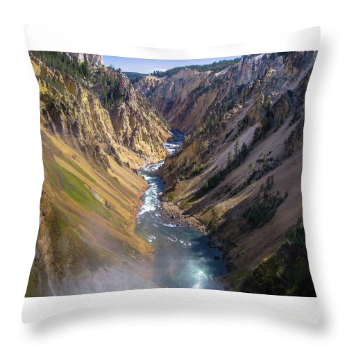 Nature Throw Pillow featuring the photograph Grand Canyon Of The Yellowstone by Stephen Rowles