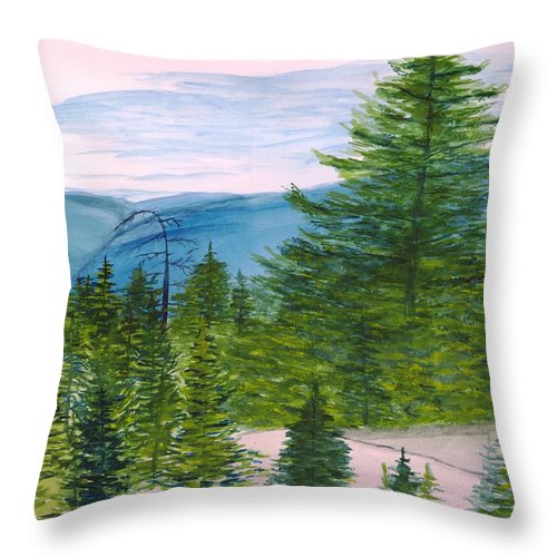 Dolly Sods Throw Pillow featuring the painting Grand Canyon Of West Virginia by David Bartsch