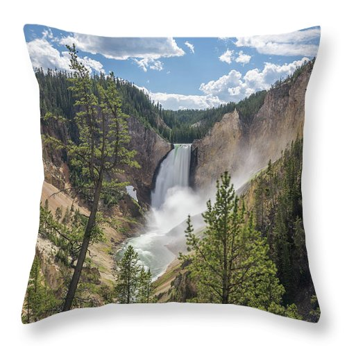 Yellowstone Throw Pillow featuring the photograph Grand Canyon Of Yellowstone by Alpha Wanderlust