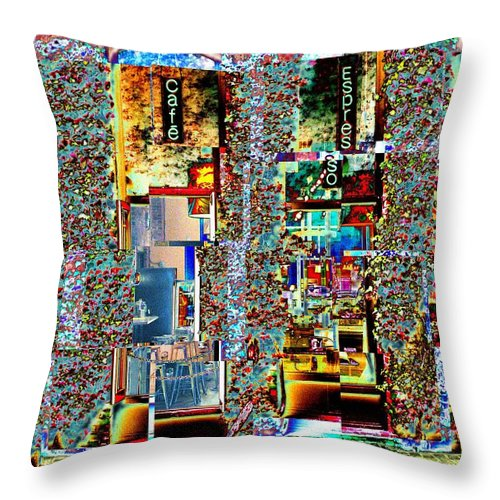 Seattle Throw Pillow featuring the photograph Grand Central Bakery 1 by Tim Allen