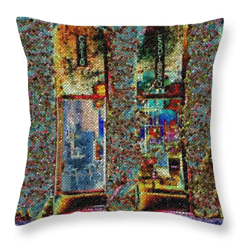 Seattle Throw Pillow featuring the digital art Grand Central Bakery Mosaic by Tim Allen