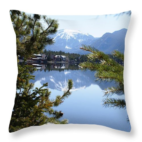Grand Lake Throw Pillow featuring the photograph Grand Lake Co Mt Baldy In The Spring by Jacqueline Russell