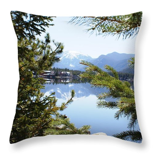 Grand Lake Co Throw Pillow featuring the photograph Grand Lake Co Mt Baldy Spring II by Jacqueline Russell