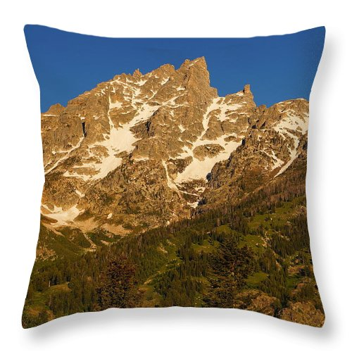 Grand Teton National Park Throw Pillow featuring the photograph Grand Sight by Beth Collins