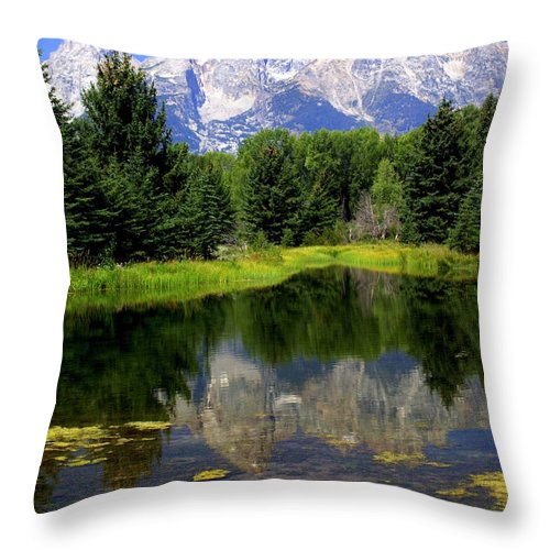 Grand Teton National Park Throw Pillow featuring the photograph Grand Tetons 2 by Marty Koch