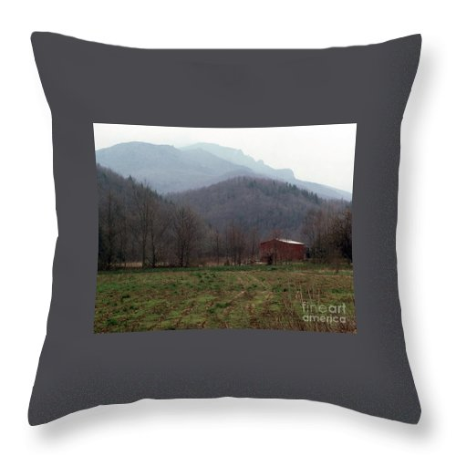 North Carolina Throw Pillow featuring the photograph Grandfather Mountain by Richard Rizzo