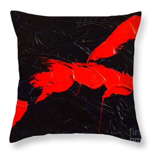 Abstract Throw Pillow featuring the painting Grandma I by Dean Triolo