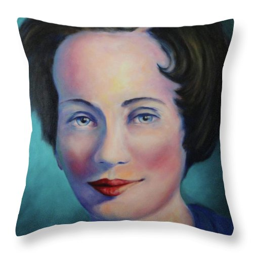 Painting Throw Pillow featuring the painting Grandmother by Shannon Grissom
