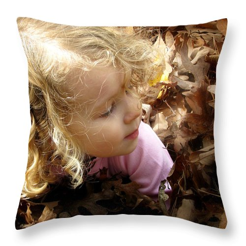 Rachael Throw Pillow featuring the photograph Grandpa Bragging Rights by Joseph G Holland