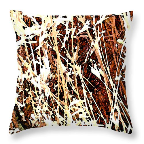 Grass Throw Pillow featuring the photograph Grass by Wayne Potrafka