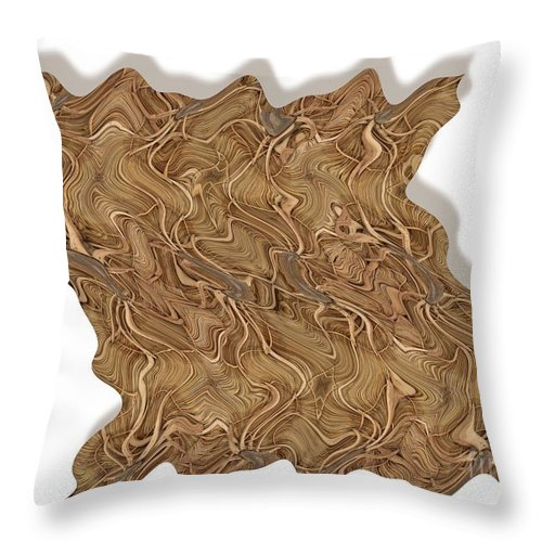 Abstract Throw Pillow featuring the digital art Grass Works by Ron Bissett