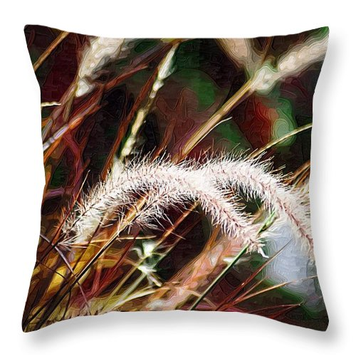Grass Throw Pillow featuring the photograph Grasses by Donna Bentley