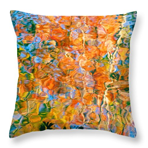 Colorful Liquid Throw Pillow featuring the photograph Grateful Heart by Sybil Staples