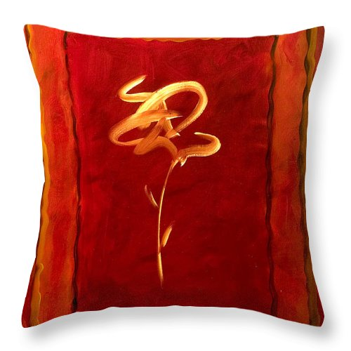 Abstract Flower Throw Pillow featuring the painting Gratitude by Shannon Grissom