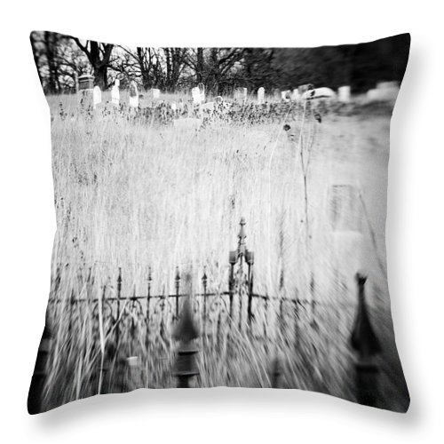 B&w Throw Pillow featuring the photograph Graveyard 6788 by Timothy Bischoff
