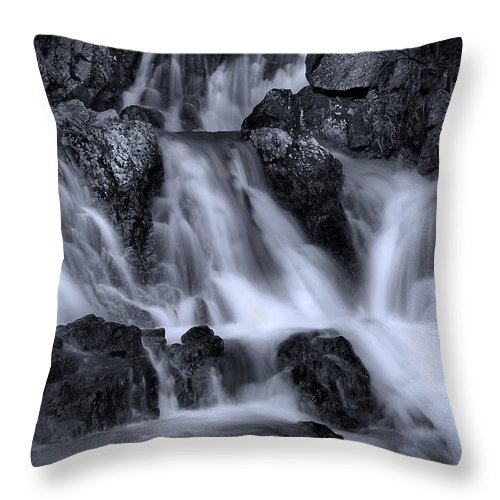 Waterfall Throw Pillow featuring the photograph Gravity by Naman Imagery