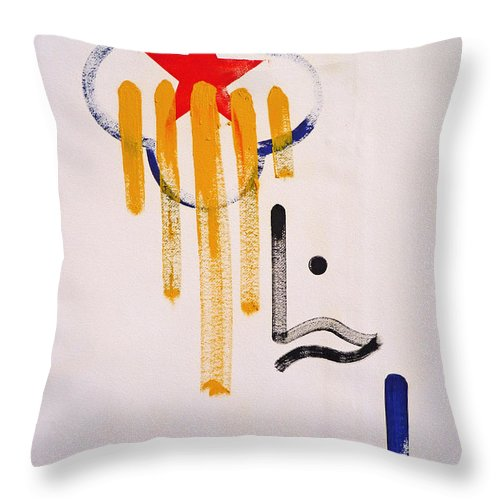 Drawing Throw Pillow featuring the painting Great American Image by Charles Stuart