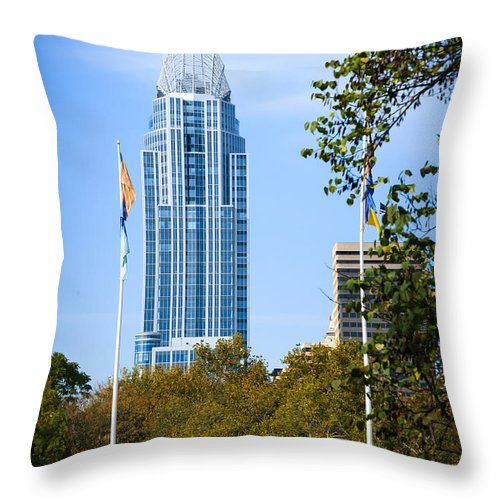 Cincinnati Throw Pillow featuring the photograph Great American Tower by Keith Allen