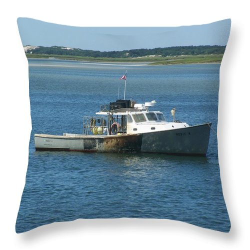 Scenic Throw Pillow featuring the photograph Great Day For A Wreck by Erin Rosenblum