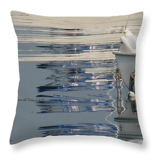 Ocean Throw Pillow featuring the photograph Great Day For Sailing by Kelly Mezzapelle