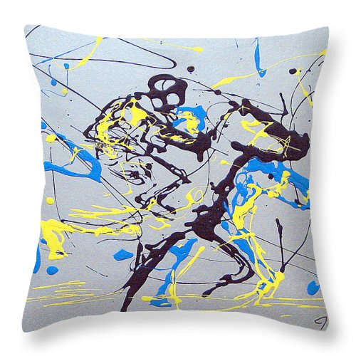 Kentucky Derby Throw Pillow featuring the painting Great Day In Kentucky by J R Seymour