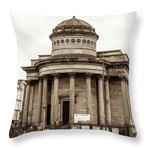 10x8 Throw Pillow featuring the photograph Great George Street Congregational Church Liverpool by Jacek Wojnarowski