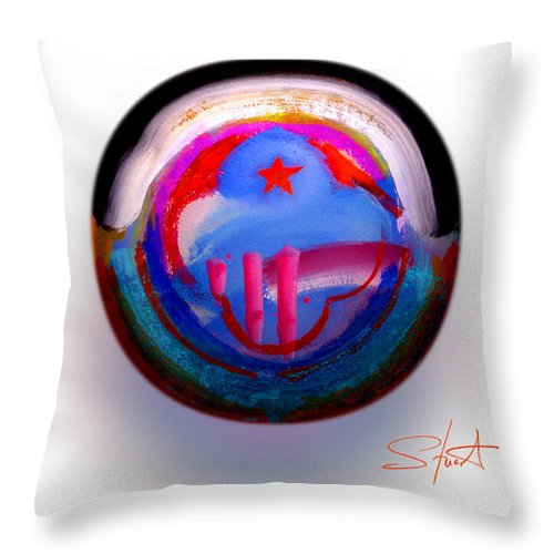 9/11 Throw Pillow featuring the painting Great Glad Morning by Charles Stuart
