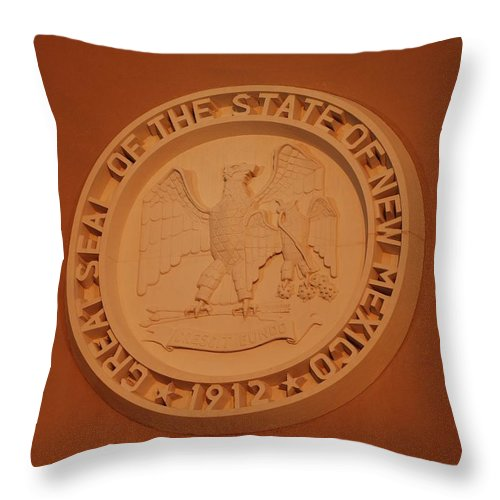 Eagle Throw Pillow featuring the photograph Great Seal Of The State Of New Mexico 1912 by Rob Hans