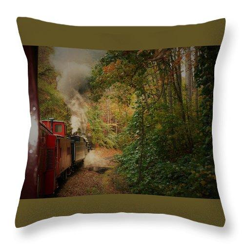 Great Smokey Mountain Railroad Throw Pillow featuring the photograph Great Smokey Mountain Railroad by Vice Photo