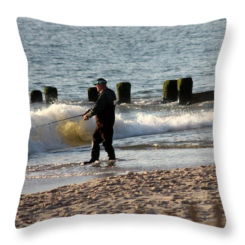 Fishing Throw Pillow featuring the photograph Great Way To Spend A Morning by Mary Haber