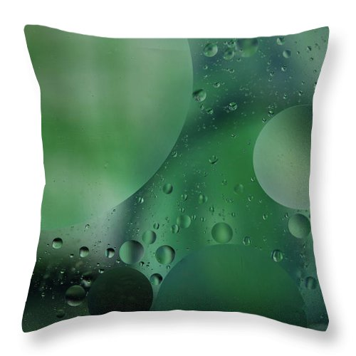 Abstract Throw Pillow featuring the photograph Green Abstract by Roger Mullenhour