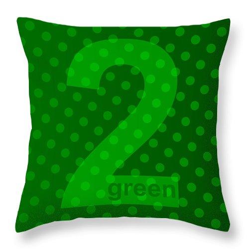 Green Throw Pillow featuring the digital art Green Goddess Santhia by Maciej Mackiewicz